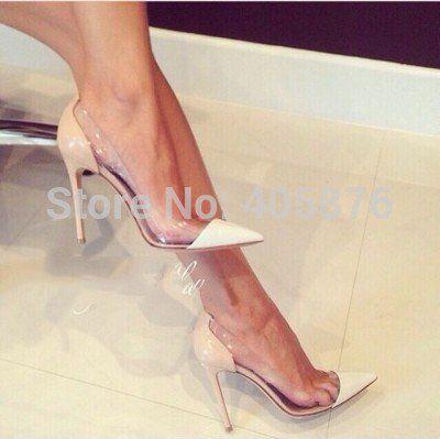 <b>New</b> Sexy Brand <b>fashion</b> See-through <b>pointed toe</b> shoes thin heels ...