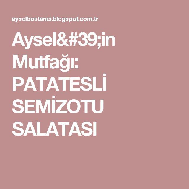Aysel'in Mutfağı: PATATESLİ SEMİZOTU SALATASI