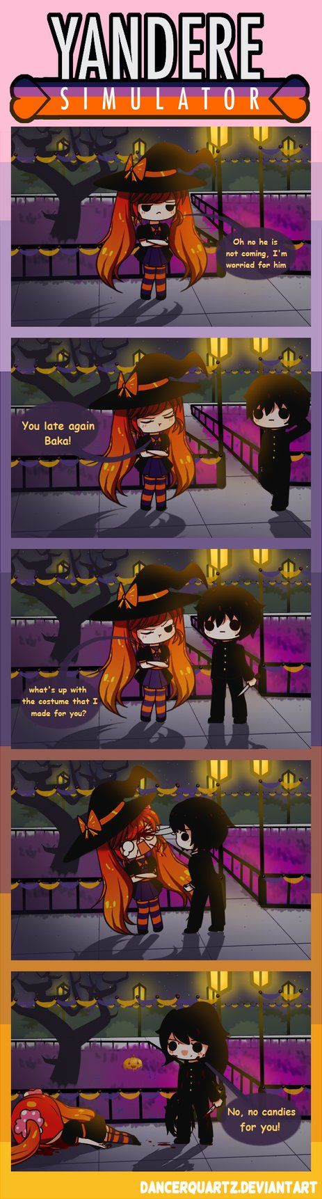 the killer senpai, uoo I'm scared 7-7 Happy Halloween everybody! ---------------------------------ESPAÑOL------------------------------------- Ya sera haloween de nuevo? (°C°)! el a&...