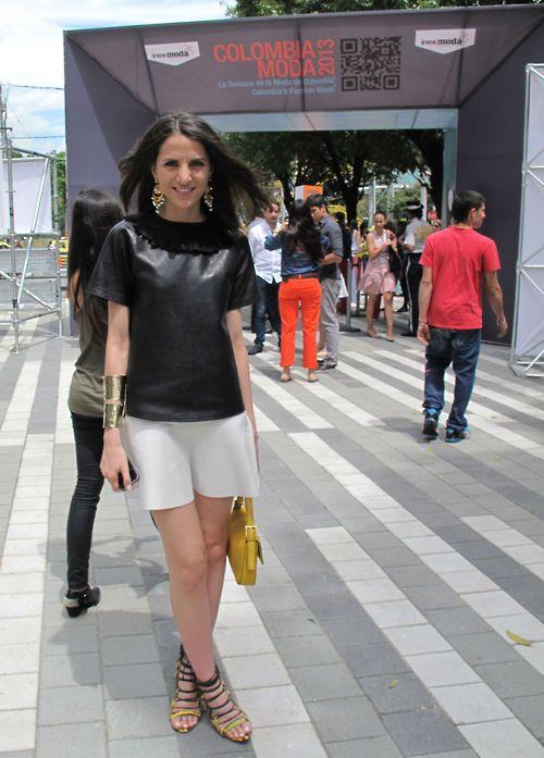Kelly Talamas, editor in chief of Vogue Latinoamerica in Colombiamoda.