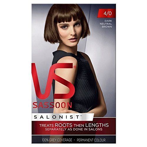 Vidal Sassoon Hair Dye Dark Neutral Brown 4/0 -- More info could be found at the image url.