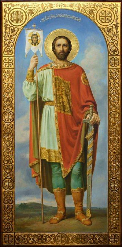 Святой Александр Невский, храмовая икона, иконописец Дмитрий Хомяков