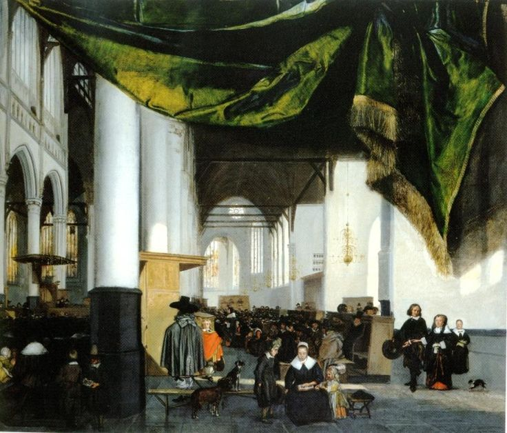 Emanuel de Witte, Interior of the Oude Kerk in Amsterdam. Cape Town, Michaelis Collection