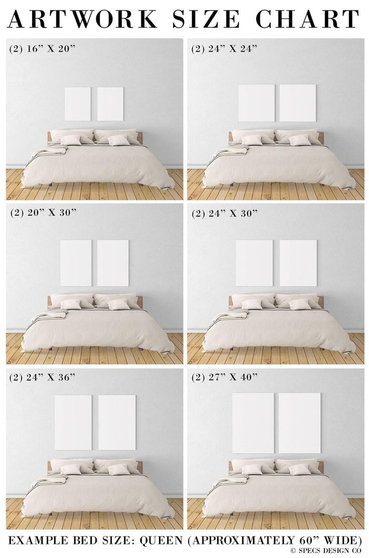 The Dos Don Ts Of Hanging Art An Illustrated Guide Bedroom Wall Decor Above Bed Bedroom Art Above Bed Bed Decor