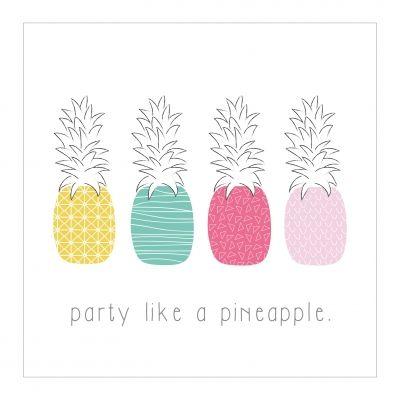 Party like a pineapple felicitatiekaart van Pretty Pastel versturen bij Kaartwereld: 20% korting bij het maken van een gratis account.