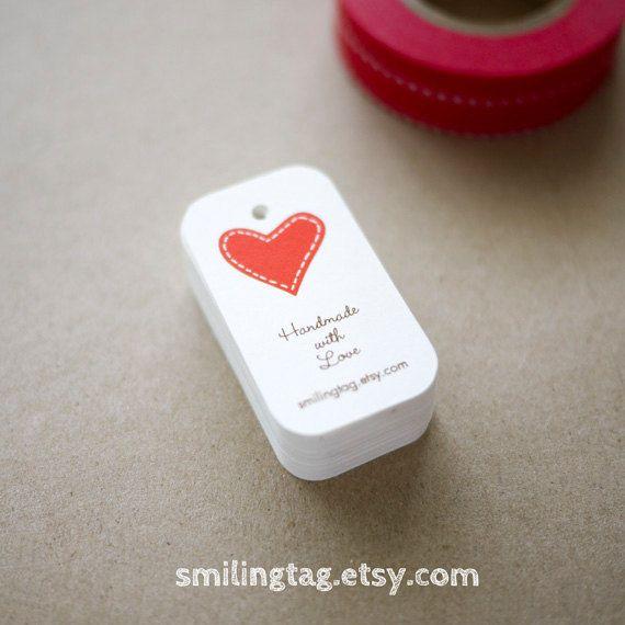#handmade with love #heart #tag