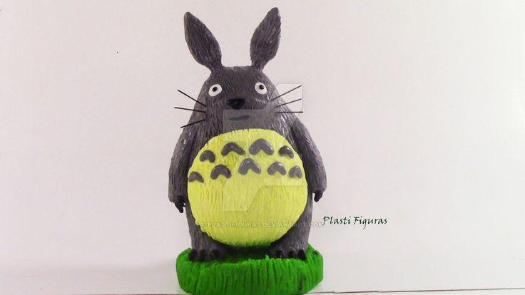 Totoro de Plastilina (Plasticine) by PlastiFiguras.deviantart.com on @DeviantArt