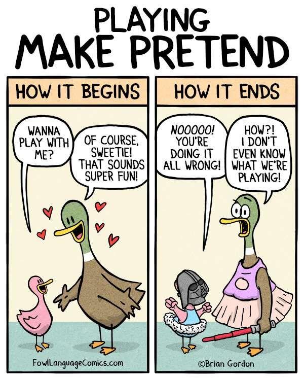 Fowl Language Comics :: Make Pretend | Tapastic Comics - image 1