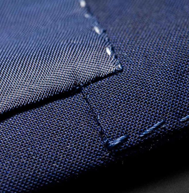 "FACING AND LINING IN SEAM: ""We attach the facing and lining a good distance from the seam of the jacket so that the [contrasting] lining at these points is never visible when the jacket is worn."" --Tailor Made London, Traditional Craft"