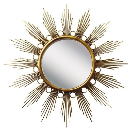 Sunburst Metal Galaxy Decorative Wall Mirror Gold - PTM Images : Target
