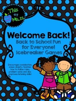 Check out my FREE Welcome Back! Back to School Fun for Everyone Icebreaker Games on TPT!