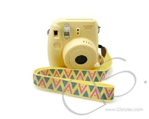 Professional Shoulder Strap for Fujifilm Instax Mini Cameras - Yellow             http://www.dsstyles.com/product/professional-shoulder-strap-for-fujifilm-instax-mini-cameras---yellow