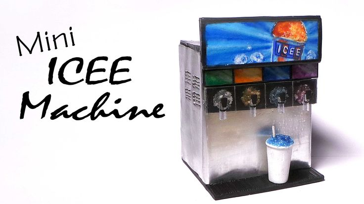 Hey Guys! Today we're making a slush ice or icee machine for Dolls and dollhouses from polymer clay :) - you can also make it into a soda/drink dispenser, if...