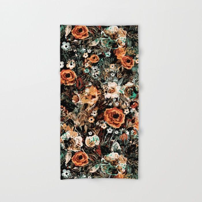 SPACE GARDEN IV Hand & Bath Towel #summer #beach #floral #women #fashion #homedecor #fashionblogger #iphone #bag