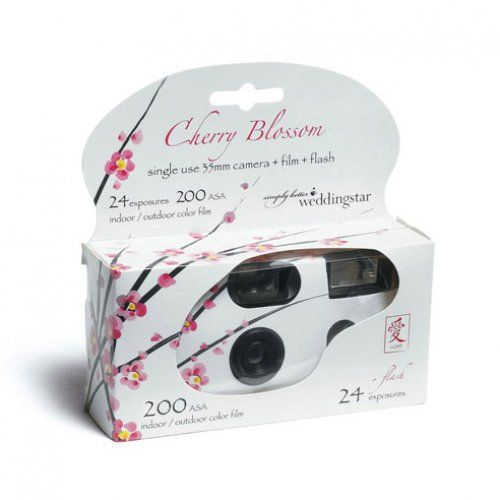 Disposable Camera Wedding Idea: Cherry Blossom Disposable Camera In 2019