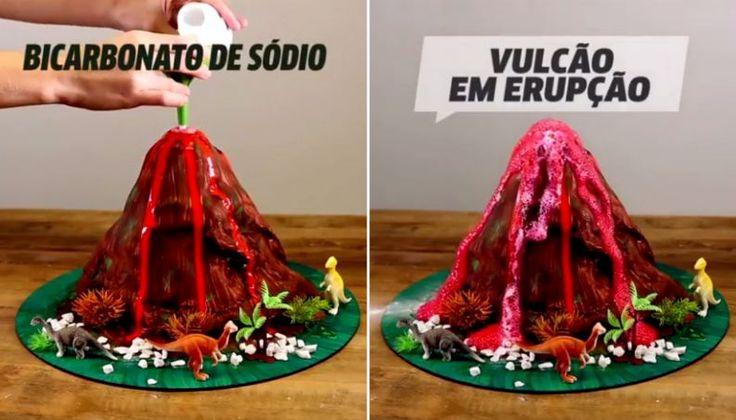 Experiência do vulcão em erupção: como fazer e a incrível explicação do experimento - Vix