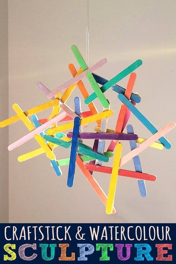 Craft stick kid art