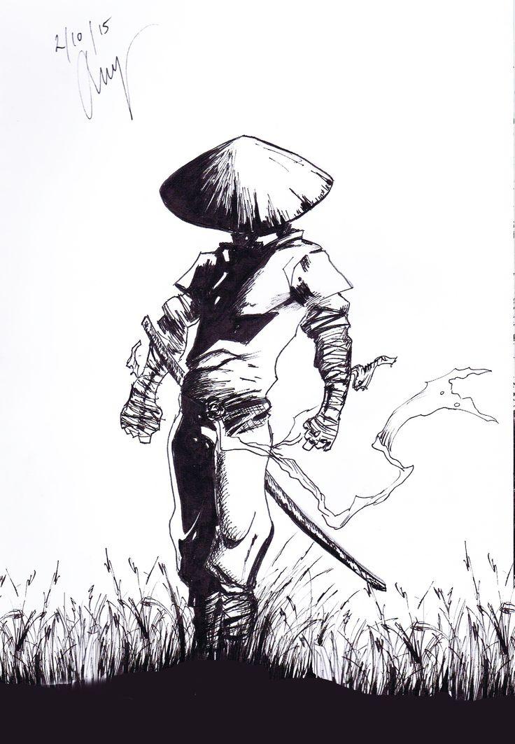 Ninja - By Anthony Keutzer #Ninja #Ink #Asian #Sword #Sketch #Anthony #Keutzer