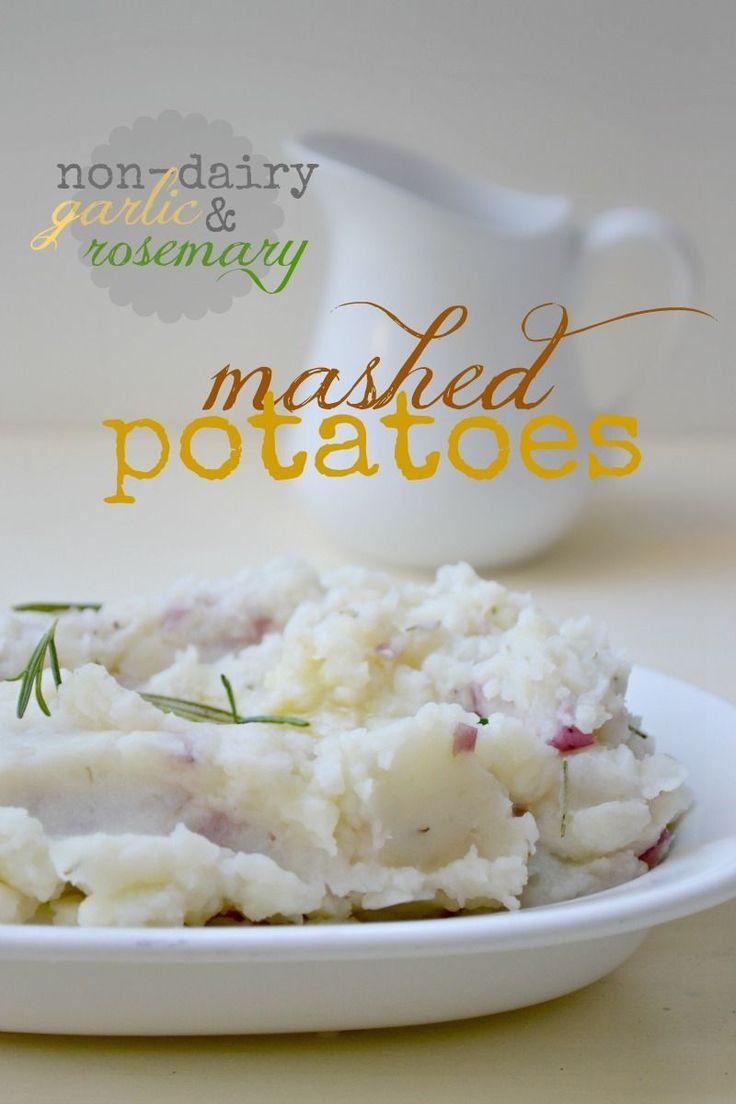 Vegan Mashed Potatoes -- skip the margarine and add either Earth Balance vegan butter or a bit of olive oil instead.