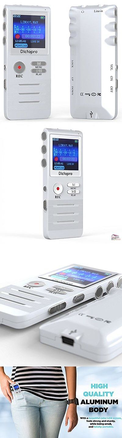 Voice Recorders Dictaphones: Digital Voice Activated Recorder Double Microphone 8Gb Usb Headphone Mp3 Player BUY IT NOW ONLY: $65.07