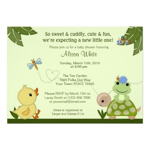 15 best duck baby shower invitations images on pinterest convites in the pond baby shower invitation duck frog stopboris Image collections