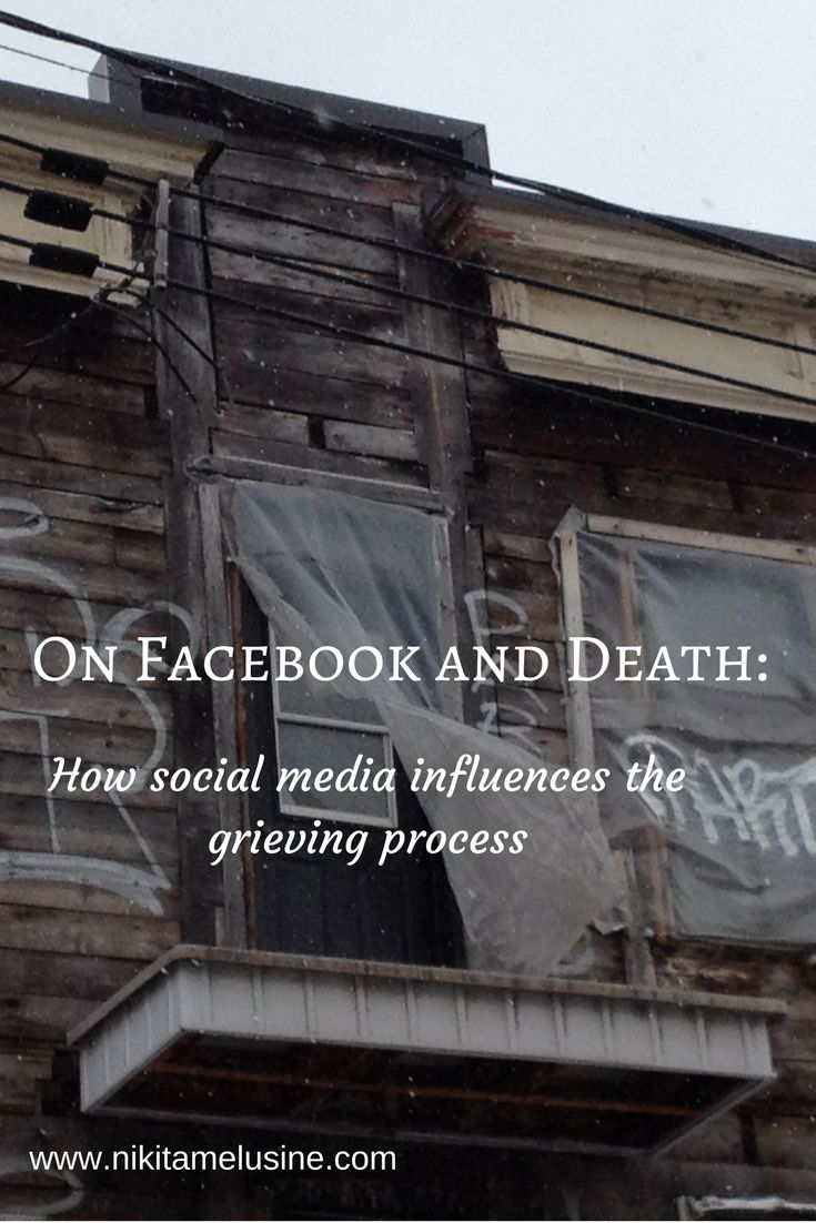On Facebook and Death: Have you ever found out about someone's death on social media? Modern technology has changed the grieving process significantly.