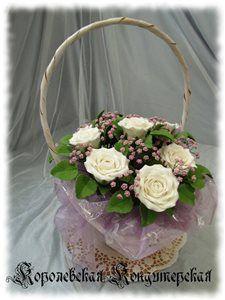 Свадебные розы из сахарной пастилы