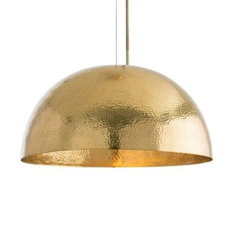 Mambo Golden Brass Dome Pendant Light