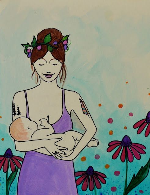 breastfeeding art spiritysol Catie Atkinson