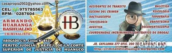 PERITAJES EN EL PERU Para servirle en CRIMINALISTICA FORENSE, pe .. http://huanuco-city.evisos.com.pe/peritajes-en-el-peru-id-637028