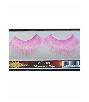 Roze oogwimpers  Grote roze nepwimpers mooie grote wimpers om je outfit compleet mee te maken. De wimpers zijn te bevestigen met wimperlijm. De wimpers zijn inclusief wimperlijm.  EUR 4.75  Meer informatie