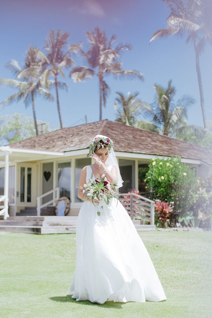 """Hoda & Tarek said their """"I Do's"""" in a private and intimate wedding at the White Orchid Beach House on the beautiful island of Maui! It was a gorgeous morning wedding with the Pacific ocean and palm trees as their backdrop. Bernie Freitas and Steven Cook of WOW planned their magical day and Chris J Evans captured every moment. 