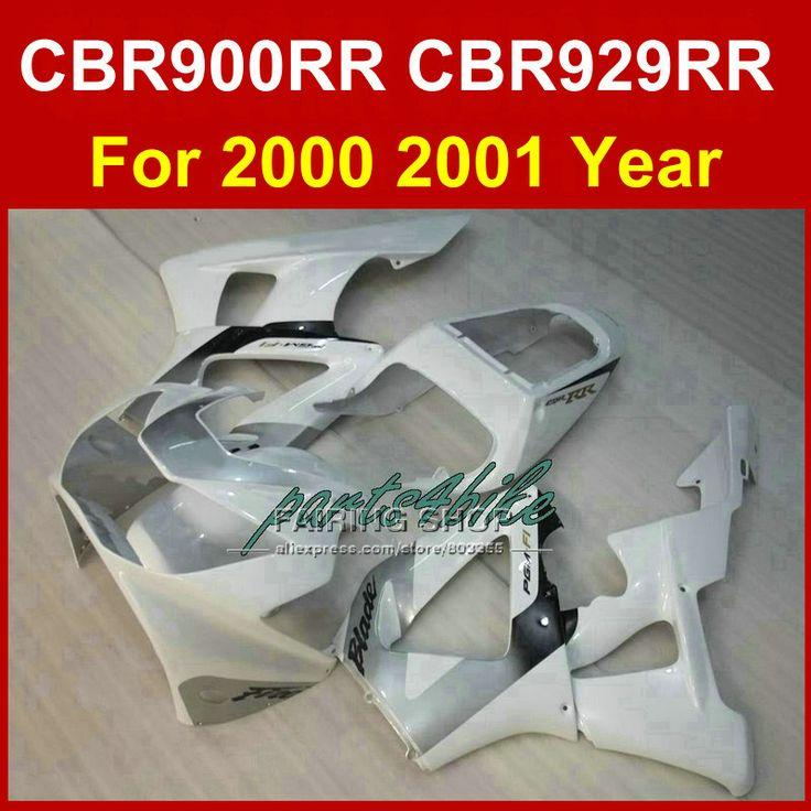 Идеальный классический белый пользовательские обтекателя kit для HONDA CBR900RR обтекатели CBR929RR 2000 2001 ЦБ РФ 929RR 00 01 части тела ЦБ РФ 900RR