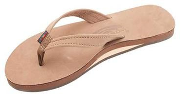 The Catalina Tapered Strap Premier Leather Sandal in Dark Brown by Rainbow Sandals