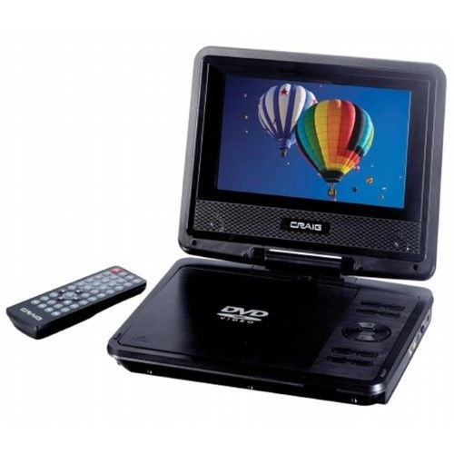 Craig Electronics Inc CTFT716N 7 in. Portable DVD Player, As Shown