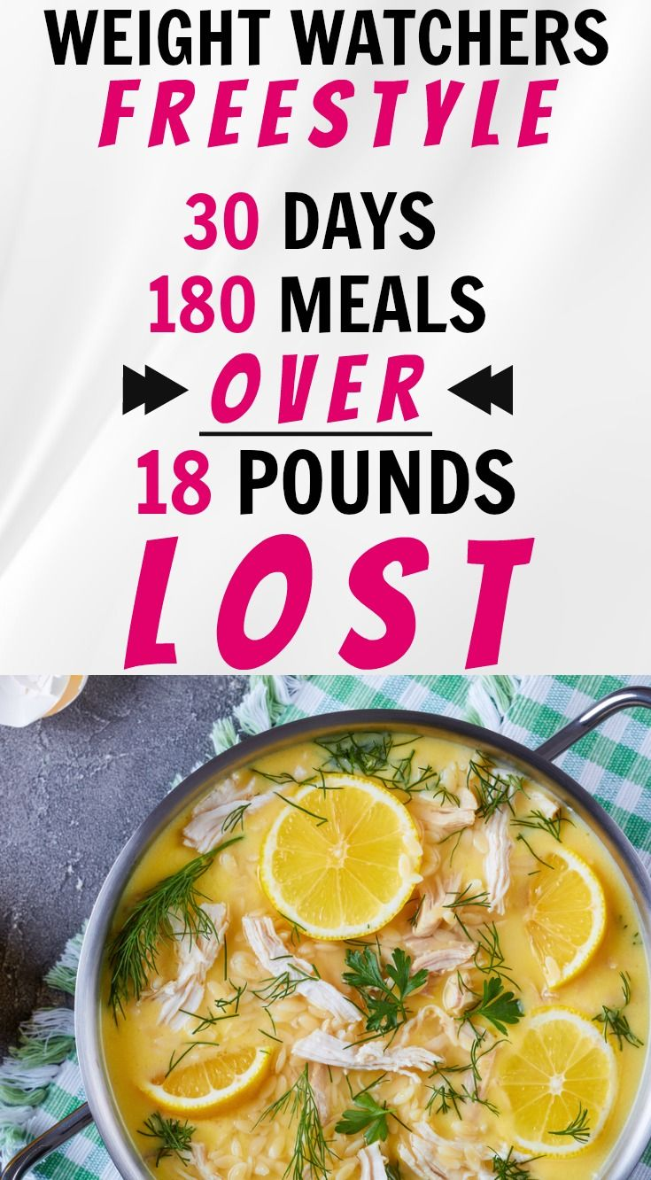Weight Watchers Freestyle 30 Day Meal Plan I Used to Lose Over 18 Pounds.