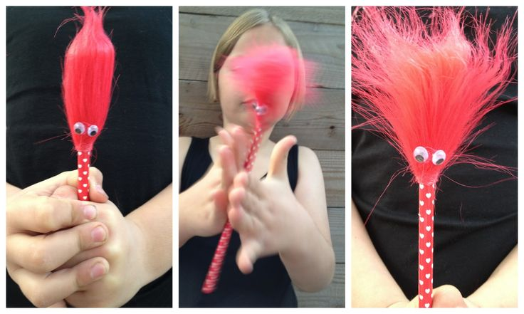 *Rook No. 17: recipes, crafts & whimsies for spreading joy*: Retro Craft: Crazy Hair Pencils and Valentine Printable