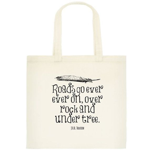 The Hobbit Lord of the Rings Tote - Book Bag - Lord of the Rings ...