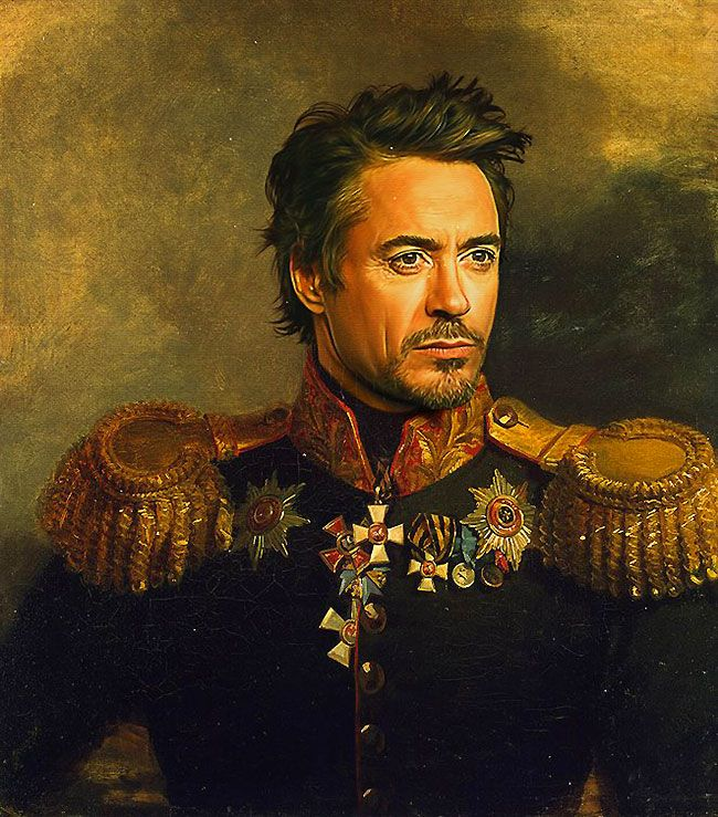 Best Héroes Y Villanos Images On Pinterest Acrylic Paintings - If celebrities were 19th century military generals they would look like this