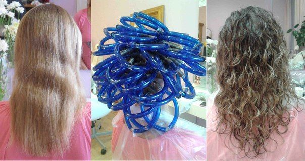 Piggyback Perm Long Hair | Long spiral perm from Russian salon