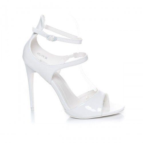 Promotie • Sandale Alidia albe cu toc
