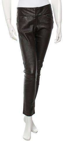 Alice + Olivia Leather Skinny Pants