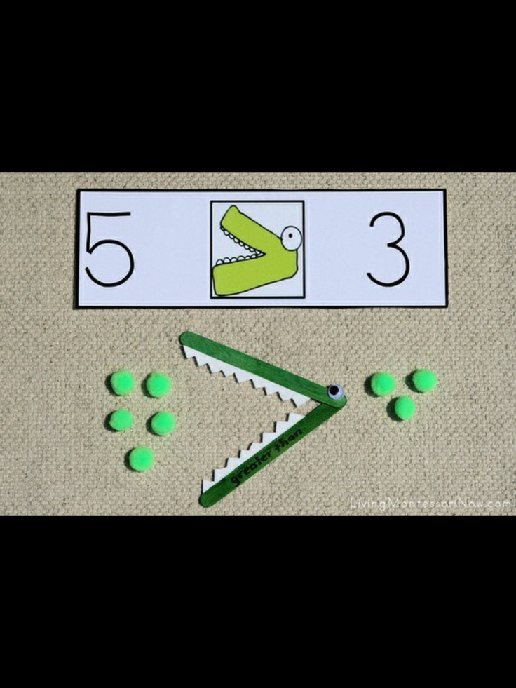 40 best moreless images on pinterest kindergarten math free greater than less than alligator printables and fun montessori inspired greater than less than alligator math activities for home or classroom publicscrutiny Gallery