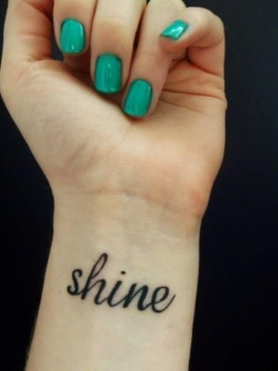 Really love this word as a tattoo, it has such a powerful meaning to me