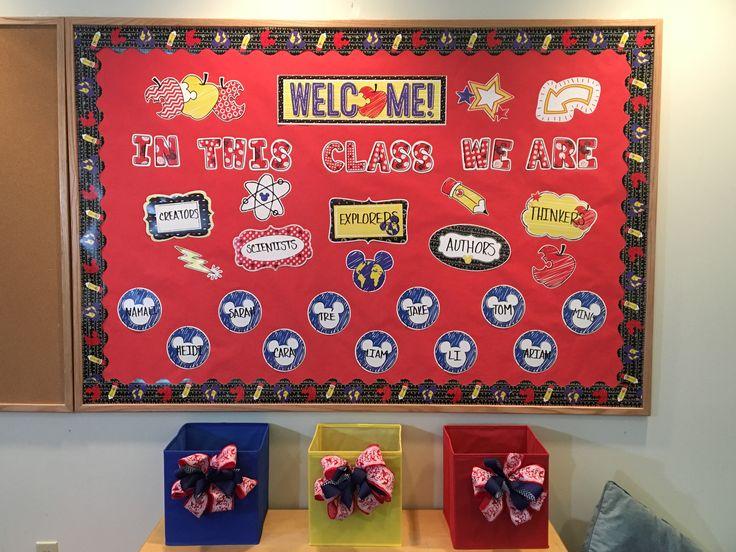 Disney Mickey Color Pop Classroom decor. Disney bulletin board idea