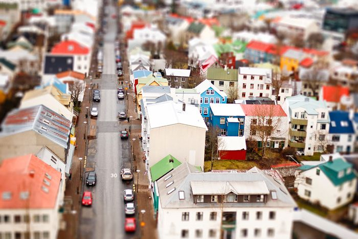 The view of Reykjavik from The Hallgrímskirkja church, via Kris Atomic.