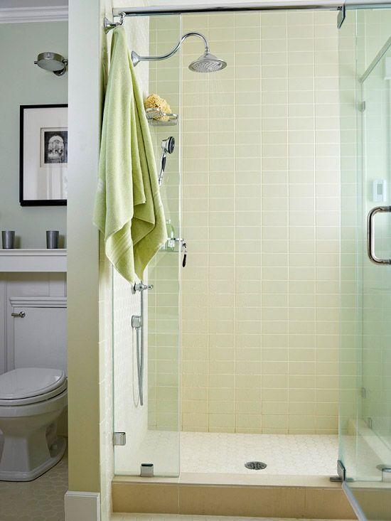 Subway Tiles Gl Doors Love This Bath Redo On Better Homes N Gardens Magazine Online