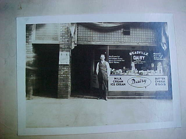 1920s MEADVILLE DAIRY STORE PHOTO PA