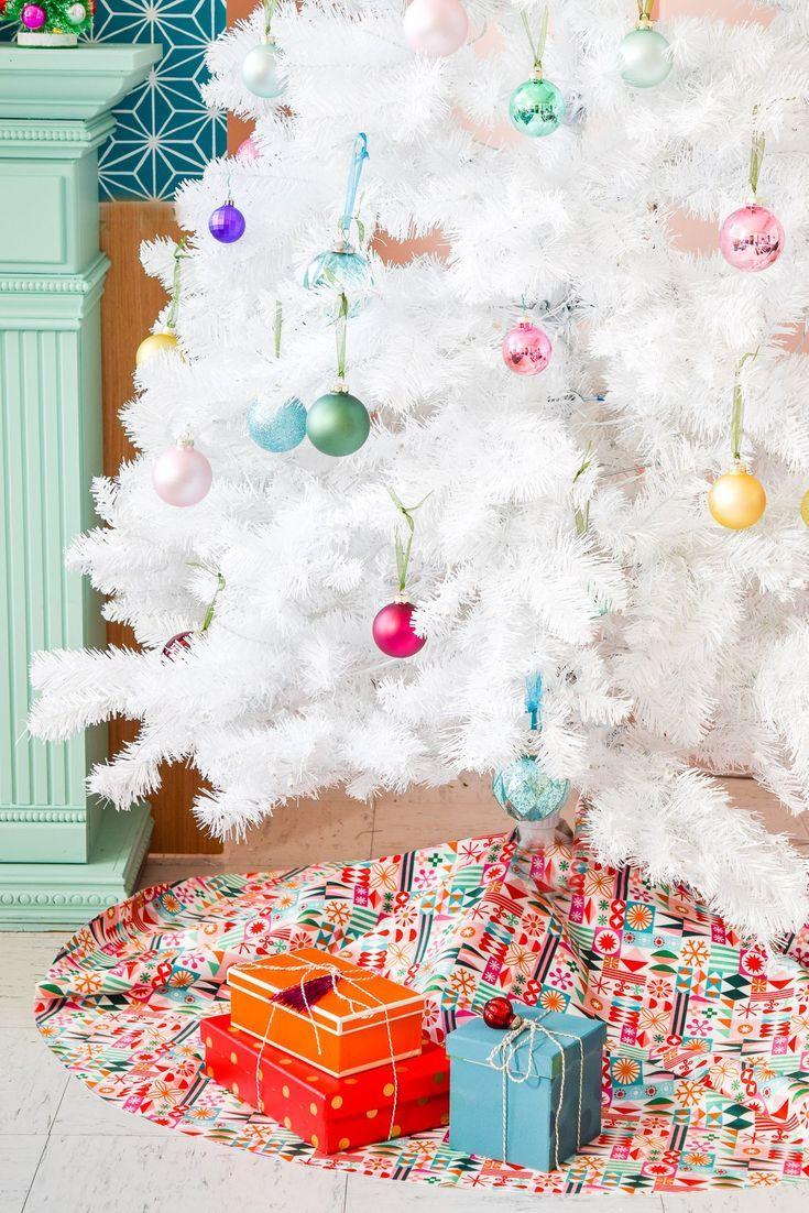 how to sew a christmas tree skirt weihnachten diy dekoration rh pinterest com