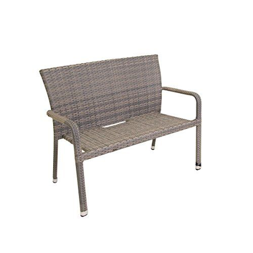 greemotion rattan garden bench manila outdoor patio bench in grey rh pinterest com
